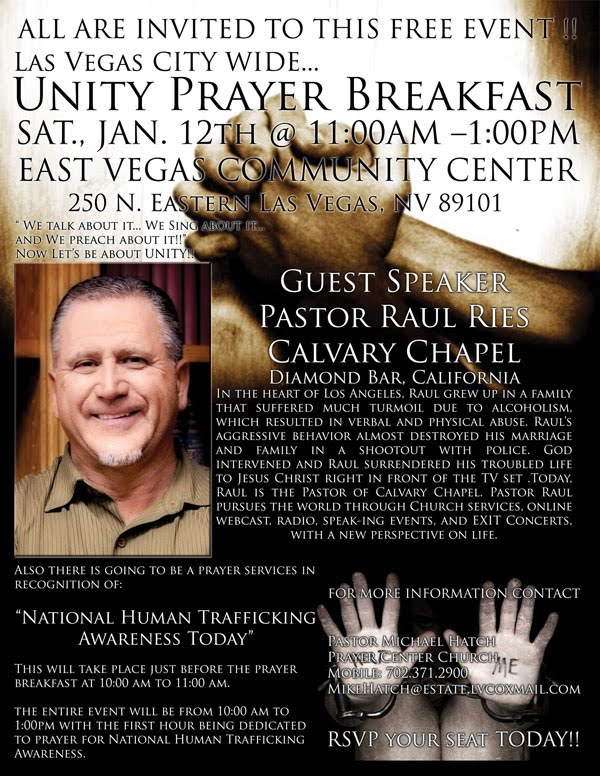 Las Vegas City Wide Unity Prayer Flyer
